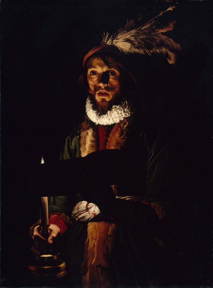 Singer by candelight, 1625-35
