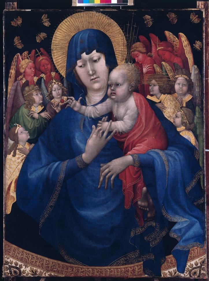 Johan Maelwael_Henry Bellechose_Madonna met Kind engelen en vlinders_Dijon c1415_Berlijn_Gemaldegalerie.jpg