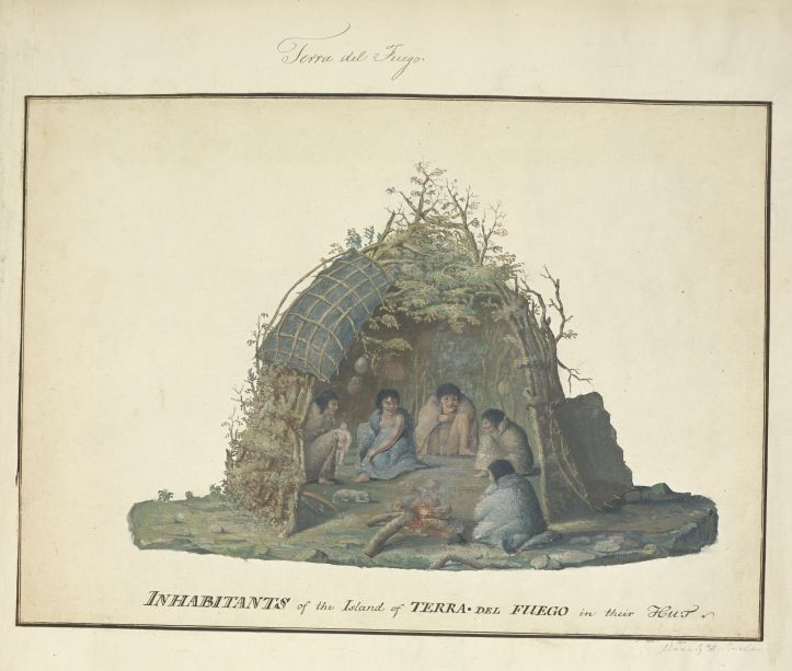 'Inhabitants of the Island of Terra del Fuego in their Hut' by Alexander Buchan, 1769 (c) British Library Board.jpg