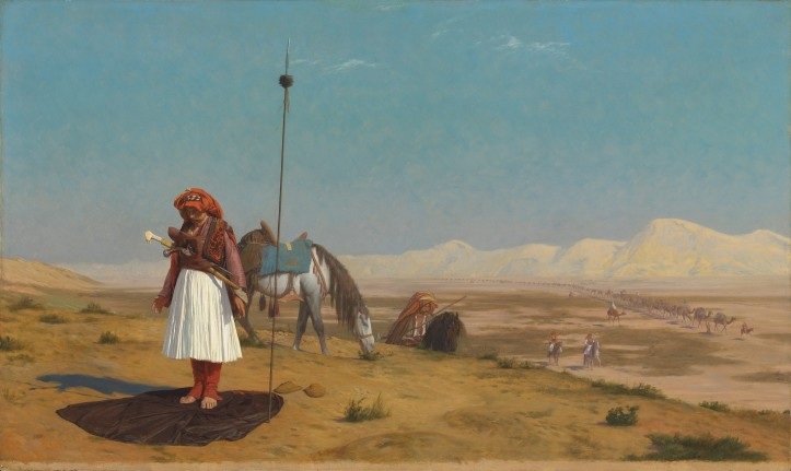 Jean-Léon Gérôme's (1824–1904), Prayer in the Desert.jpg