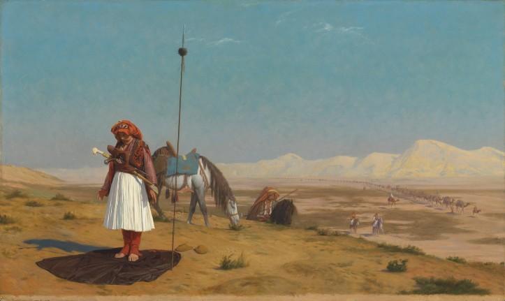 Jean-Léon Gérôme's (1824–1904), Prayer in the Desert.jpg