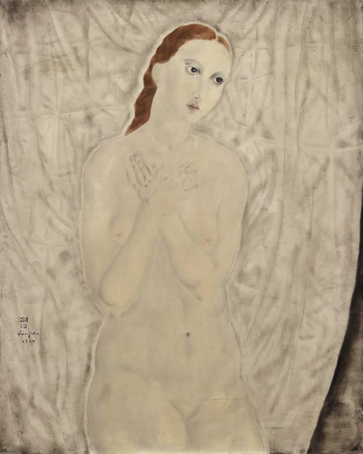 LÉONARD TSUGUHARU FOUJITA (1886-1968) Nu aux mains croisées copy.jpg